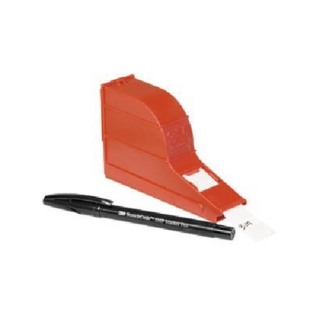 3M™ Scotchcode™ 054007-49653 Write-On Dispenser With Tape and Pen, 2.312 in L Label, 1 in W Label, 1 Rolls, Plastic