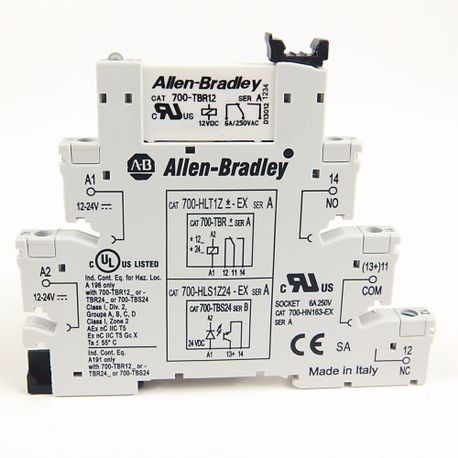 Allen-Bradley, 700-HL Electromechanical Relay Output, SPDT (1 C/O), w/  Screw Terminals, 24V DC, Touch Safe Terminal Construction