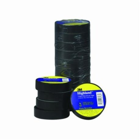 3M™ Highland™ 054007-16720 Electrical Tape, 66 ft L x 3/4 in W x 7 mil THK, Vinyl, Black