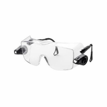 3M™ Light Vision™ 078371-62203 Light Weight Premium Protective Glasses, Universal, Frameless Black Frame, Anti-Fog