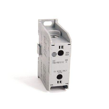 Allen-Bradley, 1492 Enclosed Power Distribution Block, 1-Pole, Copper, 1 Opening Line Side, 1 Opening Load Side, 200 Amps