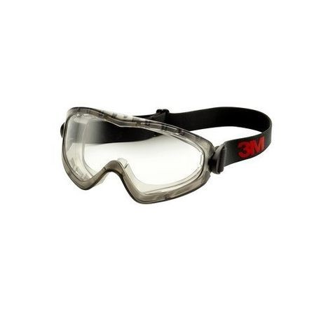 3M™ GoggleGear™ 051131-27437 GG2891-SGAF 2890 Indirect Vent Premium Splash Protection Safety Goggles, Anti-Scratch/Anti-Fog Clear Polycarbonate Lens, 99.9% % UV Protection, Elastic Strap, Specifications Met: ANSI Z87.1-2015