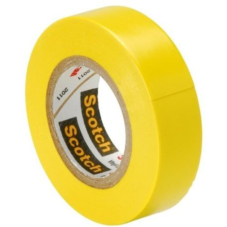 3M™, Scotch 35, Electrical Color Coding Tape, Vinyl, Yellow, 1/2 Inch x 20 ft, 7 mil