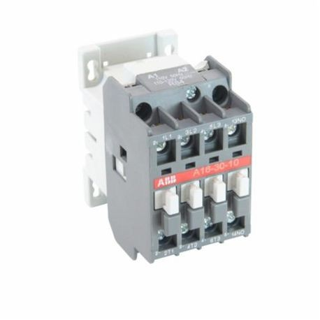 ABB A16N0-30-10-84 Across The Line Low Voltage Non-Reversing Contactor, 110 to 120 VAC Coil, 30 A, 1NO, 3 Poles