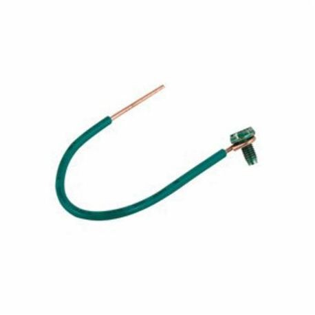 RACO® 983 Ground Pigtail, Insulated Solid Wire, 12 AWG Wire, 6 in L ...