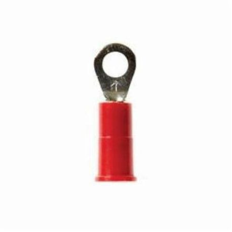 3M™ Highland™ RV18-8Q Ring Terminal, 22 to 18 AWG Conductor, 0.93 in L, Butted Barrel, Electrolytic Copper, Red