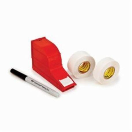 3M™ ScotchCode™ 054007-12177 Write-On Dispenser With Tape, Pen, 5 in L x 1 in W Label, 1 Rolls, Plastic, White