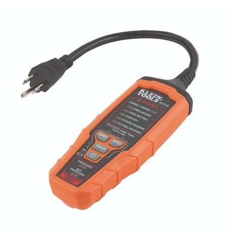 Swell Klein Rt310 Afci Gfci Outlet Tester 120 V 3 Wire Grounded Wiring Cloud Hisonuggs Outletorg