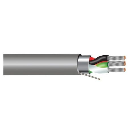 Belden, Multi-Conductor Cable, 18 AWG, Copper, Chrome, Beldfoil ...
