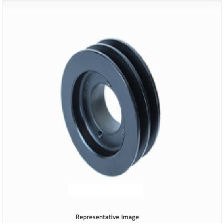 2BK055H H Bushing Sheave, Grey Cast Iron, Use with 4L or A Belts and 5L or B Belts
