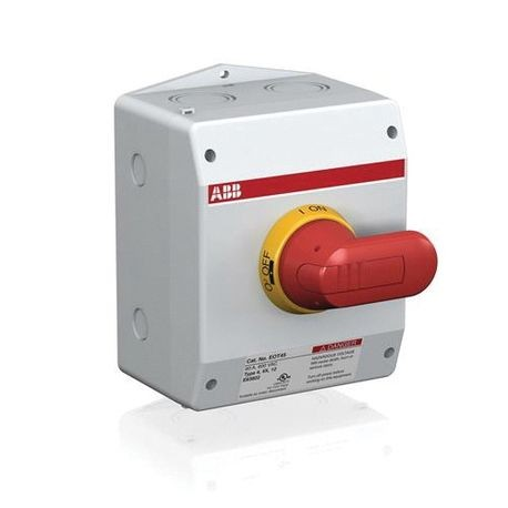 ABB EOT100U3S4-P1 Heavy Duty Non-Fusible Enclosed Disconnect Switch, 600 VAC, 100 A, 50 hp at 480/600 VAC, 3 Poles