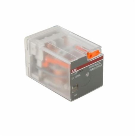 ABB 1SVR405621R2100 CR-U General Purpose Plug-In Control Relay, 10 A, 2CO DPDT Contact Form, 120 VAC Coil