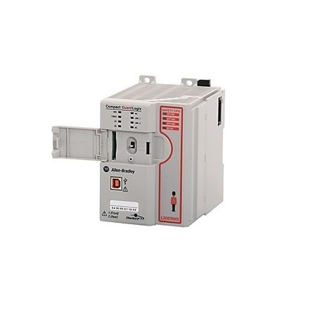 Allen-Bradley, 1769-L33ERMS, CompactLogix 5370 L3 Controllers, Dual  Ethernet w/DLR capability, 2MB standard + 1MB safety memory, 16 I/O  Expansion, 32
