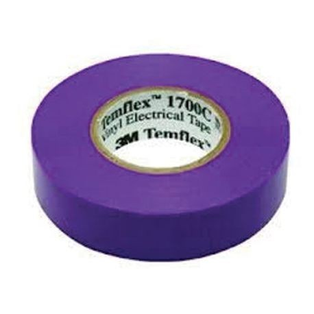 3M™ Temflex™ 1700C Electrical Tape, 66 ft L x 3/4 in W x 7 mil THK, Vinyl, Violet