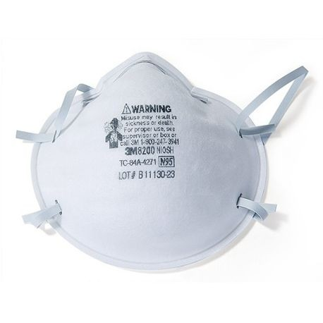 3M™ TEKK Protection™ 8200XC1-C Disposable Particulate Respirator, N95