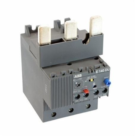 ABB E140DU140 Electronic Overload Relay, 50 to 140 A, 1NO-1NC Contact Form