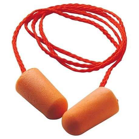 3M™ 1110 Corded Disposable Ear Plug, Tapered, 29 dB, Orange Plug