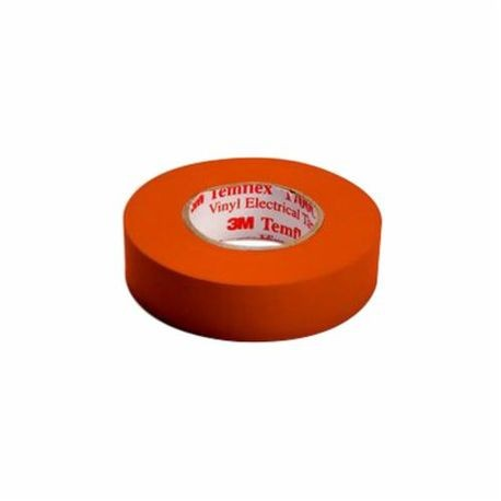 3M™ Temflex™ 1700C General Purpose Single Coated Electrical Tape, 3/4 in W x 66 ft Roll L, 7 mil THK, Orange