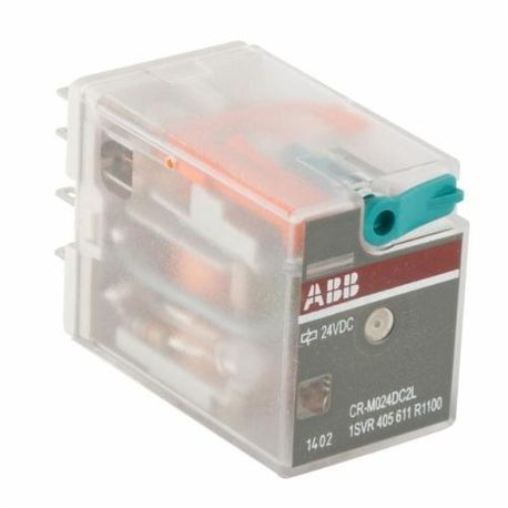 ABB 1SVR405611R1100 CR-M General Purpose Plug-In Control Relay, 12 A, 2CO SPDT Contact Form, 24 VDC Coil