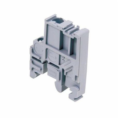 ABB 011483600 BAMH End Stop, For Use With SNA Series Heavy Duty Switch Terminal Block, 9.1 mm Spacing, -55 to 110 deg C Temperature Rating, Polyamide, Gray