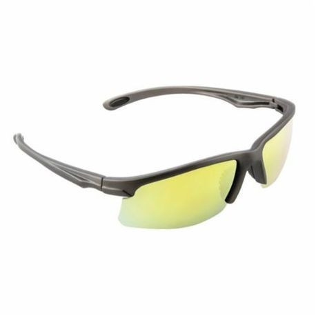 3M™ 078371-65890 Light Weight Protective Sunwear, Universal, Half Framed Gray Frame, Anti-Fog Yellow Mirror Lens