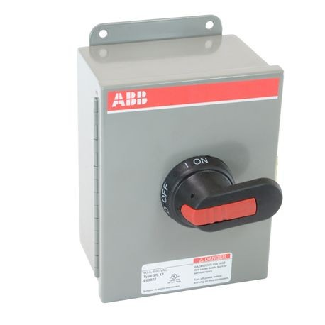 ABB EOT45U3M3-P Heavy Duty Non-Fusible Enclosed Disconnect Switch, 600 VAC, 60 A, 30 hp at 480/600 VAC, 3 Poles