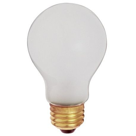 Satco S3929 Dimmable Shatter Proof Coated Incandescent Lamp 100 W Medium E26 Base A19 Shape State Electric