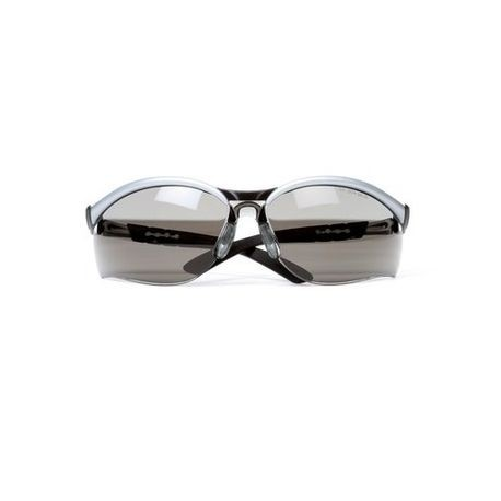 3M™ BX™ 078371-62053 Safety Glasses, Half Frame Black/Silver Frame, Anti-Fog/Anti-Scratch Gray Lens