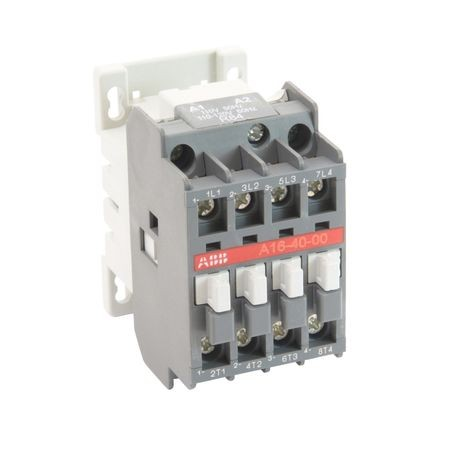 ABB A16-40-00-84 Magnetic Contactor, 110 to 120 VAC Coil, 30 A, 4NO Contact, 4 Poles