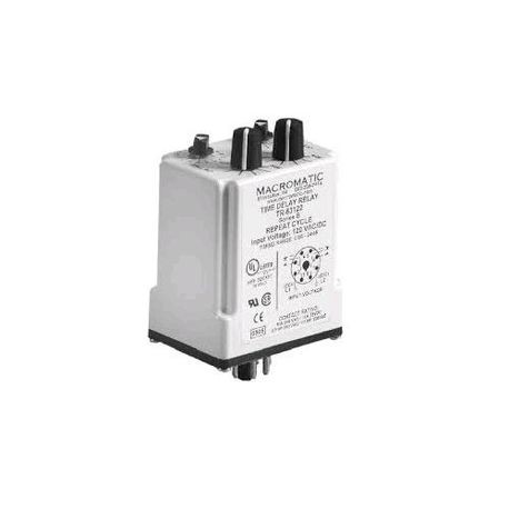 Macromatic, Time Delay Relay, NO/NC, DPDT, 10 Ampere @ 240 VAC/30 VDC, on