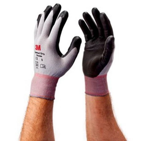 3M™ CG General Purpose Gloves, M, Nitrile Foam Palm, Gray, Comfort Grip Style