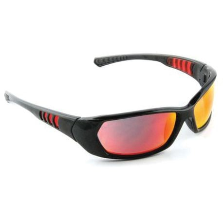 3M™ 078371-65897 Light Weight Protective Sunwear, Universal, Full Framed Metallic Black Frame, Scratch Resistant
