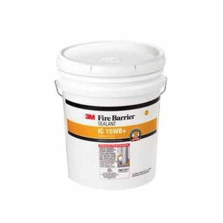 3M™ 15WB+ Intumescent Sealant, 4.5 gal Pail, Yellow, 3 hr Fire Rating