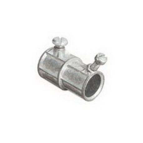 Steel City® TX-220 Conduit Combination Coupling, 3/8 in x 1/2 in, For Use  With EMT Conduit, Die Cast Zinc