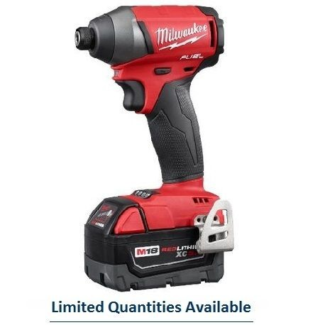 Milwaukee® M18™ Cordless Impact Driver Kit, 1/4 in Hex Drive, 0 - 3700 ipm, 1800 in-lb Torque, 18 V