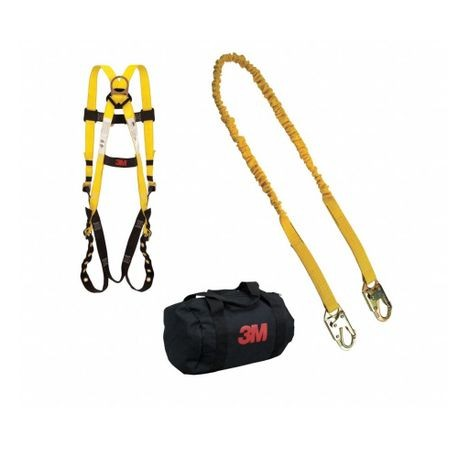 3M™ 078371-00458 Fall Protection Kit Without Belt, Pass Through Chest Connection, Grommet Leg Connection