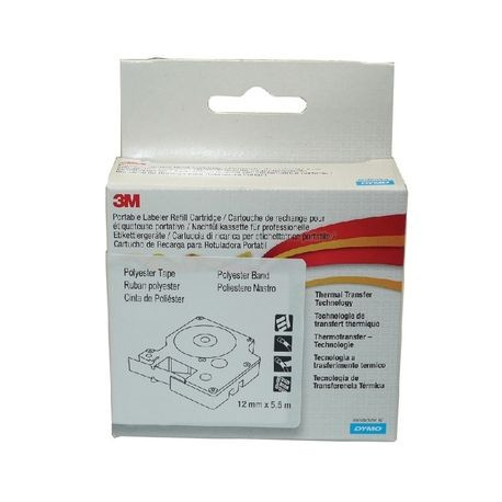 3M, Portable Labeler Refill Cartridge, Polyester Tape, White, 3/8 Inch, For PL100/PL150/PL200/PL300