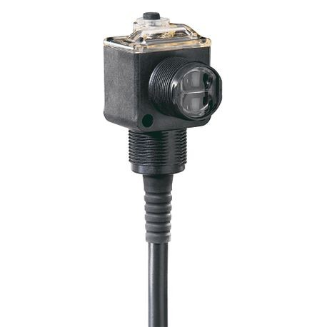 Allen-Bradley, 42EF-D8JBA-F4, PHOTOSWITCH Photoelectric Sensor, RightSight, Standard Diffuse, Red Laser, DC -  Light Operate, Both Sink (NPN) and Source (PNP), 4-pin DC Micro QD on 152mm (6in) pigtail