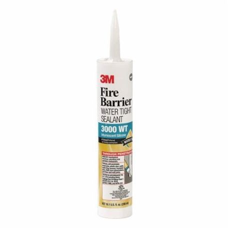 3M™ 3000 WT Water Tight Fire Barrier Sealant, 10.1 fl-oz Cartridge, Gray, 4 hr Fire Rating, Silicone