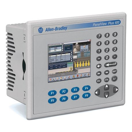 Allen-Bradley, 2711PC-K4M20D8, PanelView Plus 6 Compact Terminal, Keypad  Input Type, 3 5 in Display Size, Grayscale Display Type, Ethernet and RS232