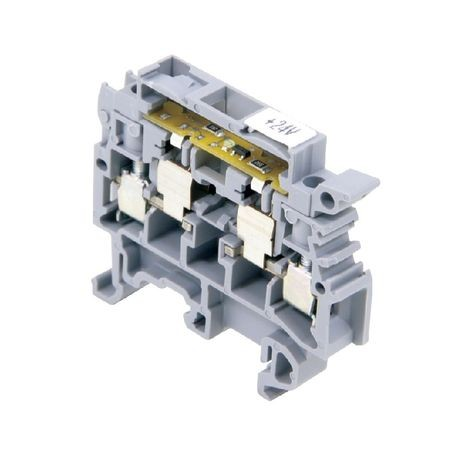 ABB 011566323 Type M 4/8.SFD Terminal Block, 10 A, 22 to 12 AWG Wire, DIN Rail Mount