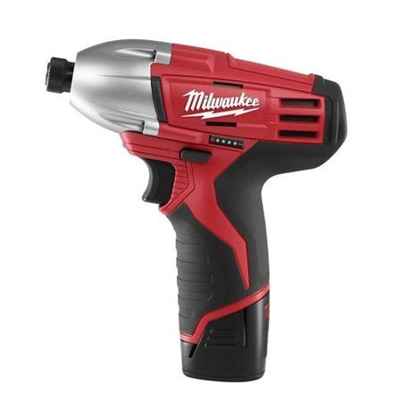 Milwaukee M12 Light Weight Cordless Impact Driver Kit 1 4 In Hex Drive 0 3000 Ipm 850 Lb Torque 12 V State Electric