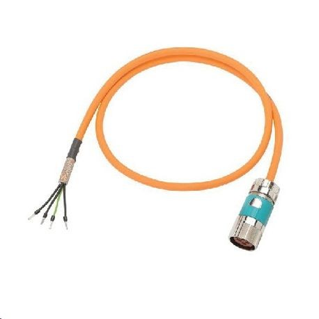 siemens motion-connect� 500 6fx50025cg101ac0 pre-assembled basic power cable,  600/1000 vac, (4) 1 5 sq-mm, 2 m l | state electric