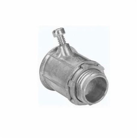 Crouse-Hinds 702DC Angled Set Screw Flex Connector, 1/2 in Trade, For Use  With FMC, Die Cast Zinc