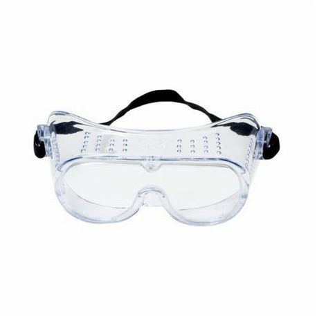 3M™ 078371-62137 Safety Goggles, Universal, Clear Frame, Anti-Fog, Impact Resistant, UV-Protective Clear Lens