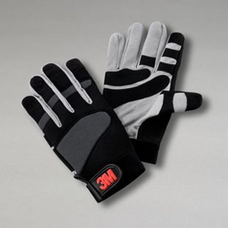 3M™ WG Work Gloves, S, Black/Gray, Synthetic Suede Leather