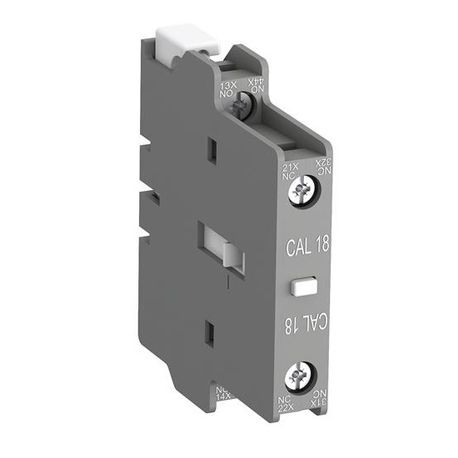 ABB CAL18-11B 2-Pole Auxiliary Contact Block, 12 to 500 VAC/VDC, 12 to 240 VDC, 1NO-1NC Contacts