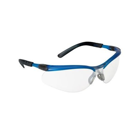 3M™ BX™ 078371-62065 Safety Glasses, Half Frame Blue/Black Frame, Anti-Fog Clear Lens