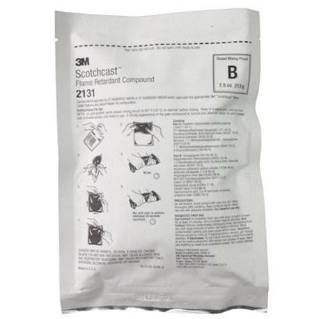 3M™ Scotchcast™ 2131B 2-Part Flame Retardant Compound, 7.5 oz Pouch, Liquid, Pungent