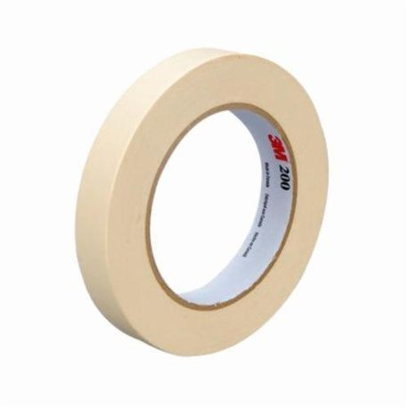 3M™ 200 Masking Tape, 18 mm W x 55 m L, 4.4 mil THK, White